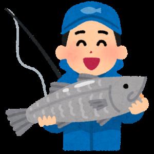 簡単に釣られた魚のイラスト