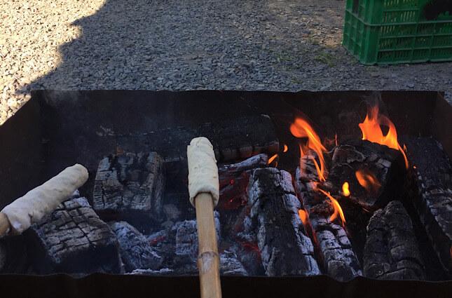 泊まったゲストハウスで焼いたパン